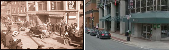 Barrington Street/George Street Halifax NS, Canada (circa 1918 - 2013)