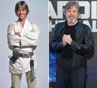 Star Wars - Luke skywalker (Mark Hamill) then and now