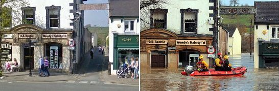 Flood at Main Street, Cockermouth, England