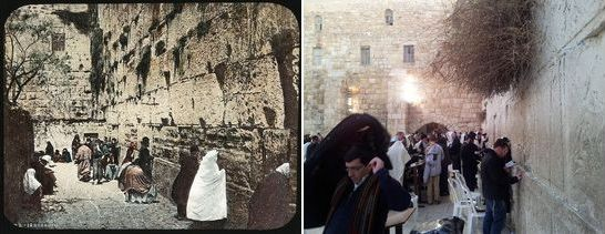 The western, Jerusalem wall 1860 - 2014, then and now