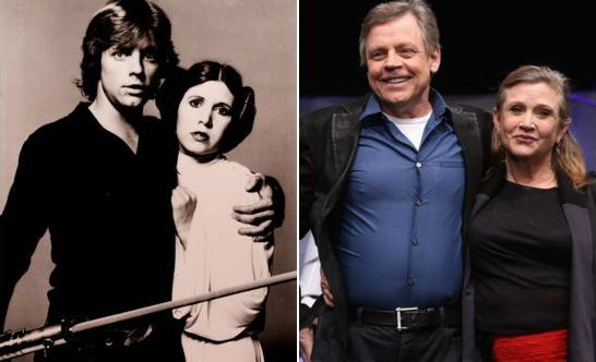 Star Wars - Luke Skywalker and Princess Leia then and now - 38 Years Apart