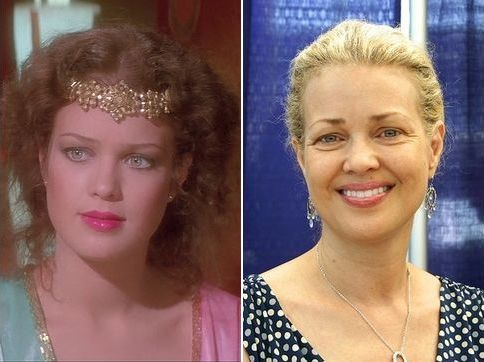 Flash Gordon (1980), Dale Arden (Melody Anderson), then and now.