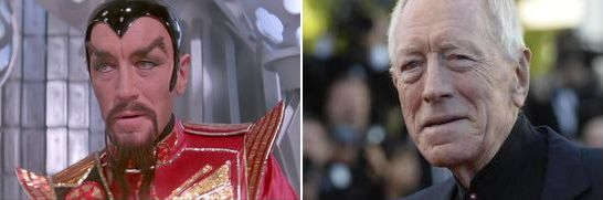 Flash Gordon (1980), Ming the Merciless, Max Von Sydow, then and now