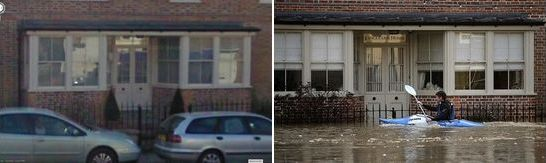 Yalding, England, United Kingdom flood December 2013 - 2014