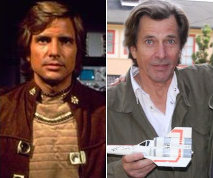Battlestar Galactica (1978) Starbuck, Dirk Benedict, then and now