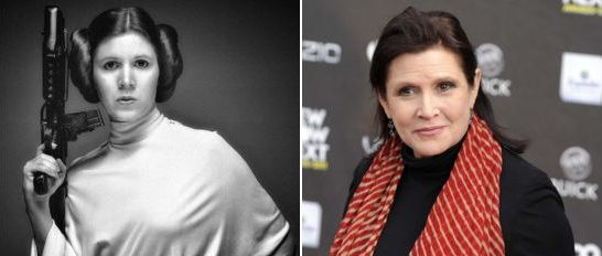 Star Wars - Princess Leia (Carrie Fisher) Then and Now